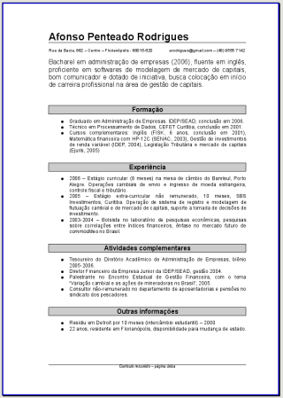 Modelos De Curriculum Gratis Para Download Parte 1 Primeiro Emprego